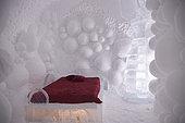 Iced suite, Ice Hotel, Quebec, Canada
