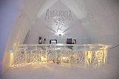 Ice bar, Ice Hotel, Quebec, Canada