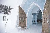 Ice Hotel door, Quebec, Canada
