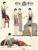 Lingerie fashions of 1925.