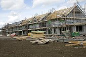 Building new contemporary houses with solar panels Persimmon Greenacres Bishops Cleeve Cheltenham UK