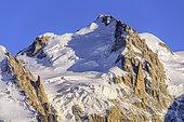 Mont Maudit (4465 m), Mont Blanc massif seen from Aiguilles Rouges, Alps, Haute Savoie, France