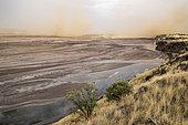 """little Magadi"" sandstorm after the storm, Lake Magadi, Kenya"