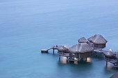 Bungalow on stilts of the Sofitel Hotel, Bora Bora, Society Islands, Leeward Islands, French Polynesia