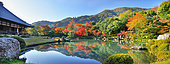 Garden of Teryuji temple in autumn in Kyôto Arashiyama, Japan