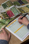 Order vegetable seeds in a catalog
