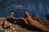 Valle de la luna. Landscapes od desert, Chile
