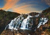 Couros Waterfall, Veadeiros tablelands Brazil.