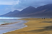 Cofete beach, with 12 km long is located in the southwest of the island, Island of Fuerteventura, Canary Islands.