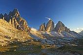 North face of the Three Peaks, Sextner Dolomiten, South Tyrol province, Trentino-Alto Adige, Italy, Europe