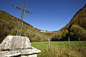 calvary, to the source of the Seille , Reculee, Ladoye sur Seille, Jura, France