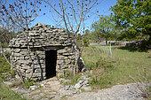 Borie, dry stone Capitelle, Casteljau, Ardèche, France