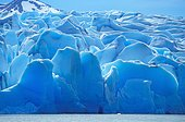 Ice sheet of Grey Glacier at Lago Grey Lake, Torres del Paine National Park, Patagonia, Chile, South America