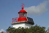 Photovoltaic cell modules on the Pointe d'Agon lighthouse in Agon-Coutainville, Normandy, France
