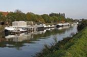 River Lys in Halluin, Hauts-de-France, France