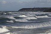 Rough sea near Cap Fréhel, Brittany, France