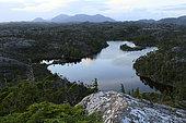 Campania Island lake, Great bear rainforest, British Columbia, Canada