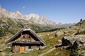 The mountain hut of Ricou, Névache, Alps, France