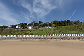 Beach Cabins in Barneville-Carteret, Spring, Manche, France