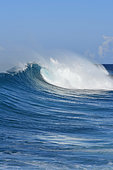 Wave in Caribbean Sea, Guadeloupe, French West Indies