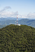 Communication Antenna at the top of Mont Aoupinié. Reserve of the Aoupinié massif. Moist forest on ultramafic soil. Central chain. New Caledonia.