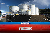 Fuel storage tanks. Pacific oil. New Caledonia.