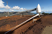 Inspection of a wind turbine in New Caledonia.