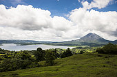 Arenal volcano and Arenal lakel, Costa Rica