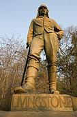 David Livington, explorer statue, Victoria fall, Zimbabwe
