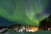 Aurora Borealis over the White Sea, Nilmoguba, Republic of Karelia, Russia
