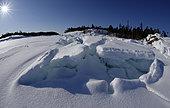 Ice on the surface of the White Sea, Nilmoguba, Republic of Karelia, Russia