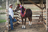 Award-winning horse and its owner, Bourail Agricultural Fair. New Caledonia.