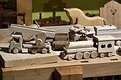 Wooden toys, museum Espace des métiers du Bois Et du Patrimoine in Labaroche, Haut Rhin, France