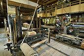 Haut Fer saw, sawmill, museum Espace des métiers du Bois Et du Patrimoine in Labaroche, Haut Rhin, France