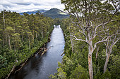 Huon River from Tahune AirWalk, Tahune Forest Reserve, Tasmania, Australia