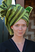 Belgian traveler met in Burma on a trek between the city of Kalaw and Inle Lake. She wore a Burmese outfit, ethnic Pao
