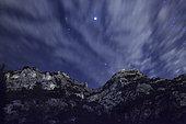 Starry Night on Rochers de Baude, Robion, PNR Luberon, Vaucluse, France