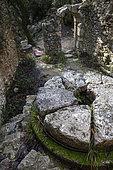 "Mill ""Jean de Marre"" in the gorges of Véroncle, PNR Luberon, Vaucluse, France"