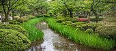 Kenroku-en garden during azalea bloom, Kanazawa, Japan
