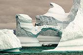 Iceberg presenting an arch, Greenland