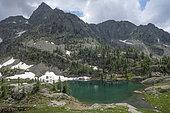 Lake Trecolpas, Mercantour National Park, Alps, France
