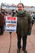 National event against the shooting of wolves.16 January 2016, Lyon, France
