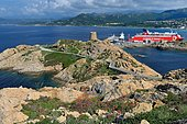 Peninsula of Pietra and port of Ile-Rousse, Corsica