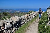 Path leading to the abandoned village of Occi, View of the Revellata and the Gulf of Calvi, Corsica