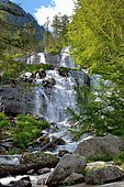 Cascade of the Pont d'Espagne in Cauterets, Pyrenees, France