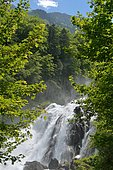 Cascade du Lutour in the spring, Pyrenees, France