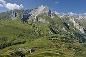 Soulor pass and limestone massif of Gabizos: 2639m, Pyrenees, France