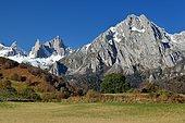Aiguilles d'Ansabere et pic du Billare, Cirque de Lescun, Vallée d'Aspe, Pyrénées, France