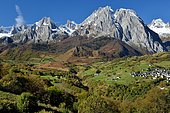 Circus of Lescun in autumn, Aspe Valley, Pyrenees, France