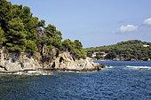 Landscape of the Var coast in summer, near Cape Brown near Toulon, Var, France